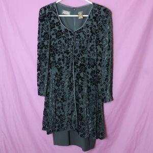Vintage 90s Liz Claiborne Velvet Dress